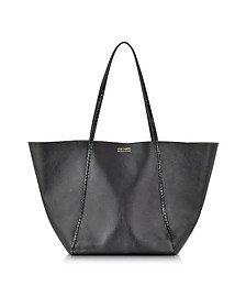 Black Ayers and Calf Leather Tote - Linda Farrow