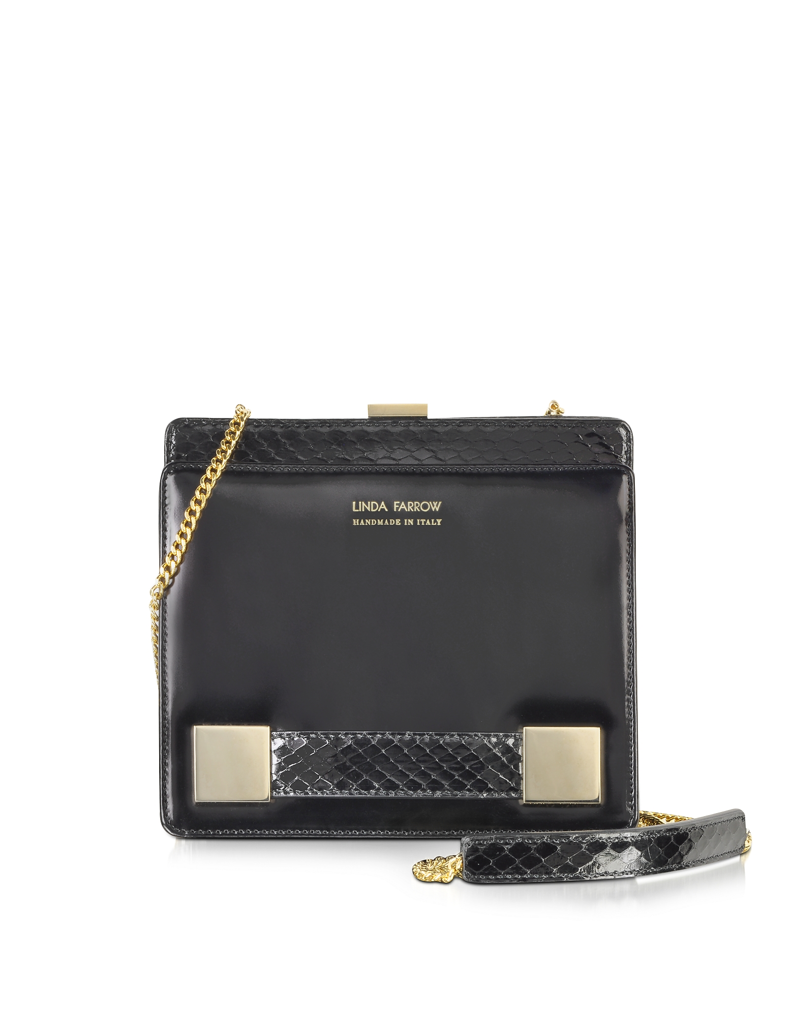 Anniversary Black Ayers and Leather Shoulder Bag