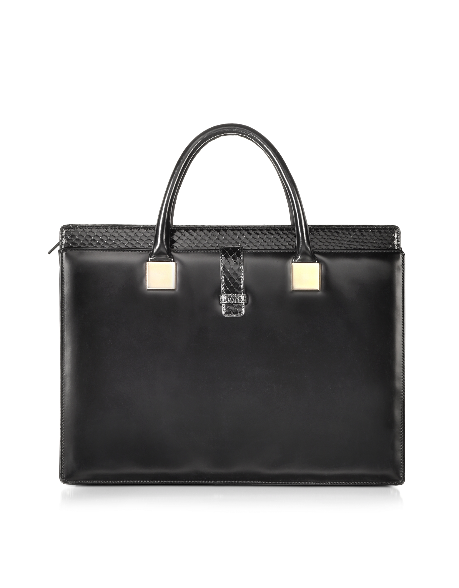 Linda Farrow Handbags, Anniversary Black Ayers and Leather Tote