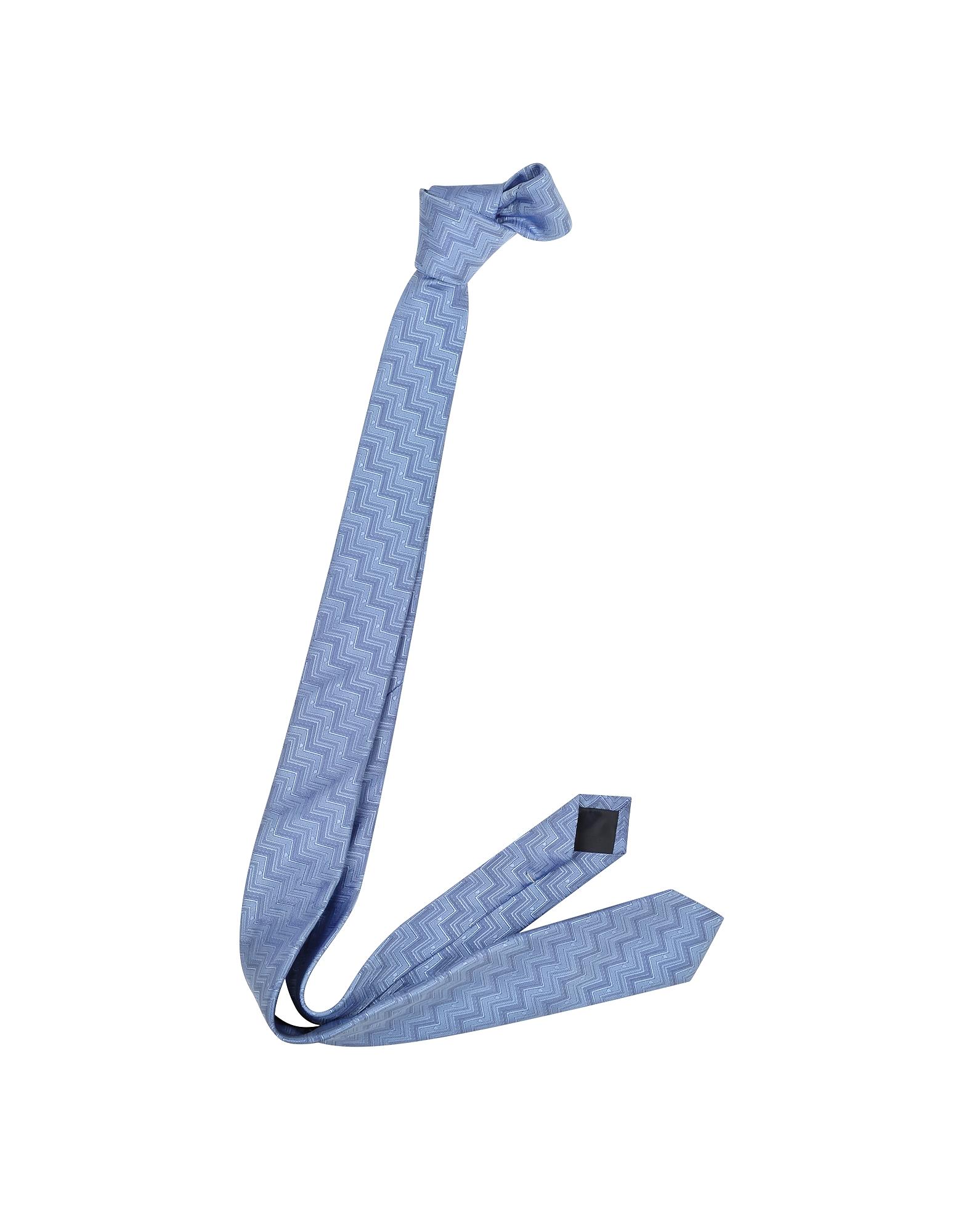 Zig Zag Woven Silk Narrow Tie от Forzieri.com INT