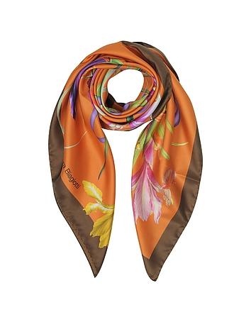 Eșarfă de damă LAURA BIAGOTTI, fashion, din mătase, cu imprimeu floral