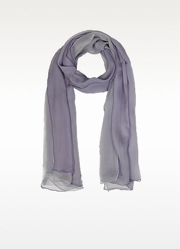 Gradient Lilac/Lavender Silk Long Scarf - Laura Biagiotti