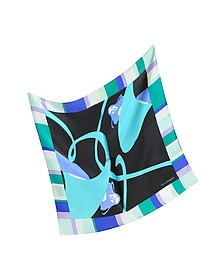 Multicolor Print Satin Silk Bandana - Laura Biagiotti
