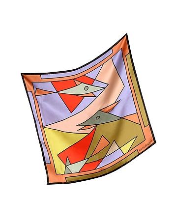 Laura Biagiotti - Geometric Print Silk Bandana