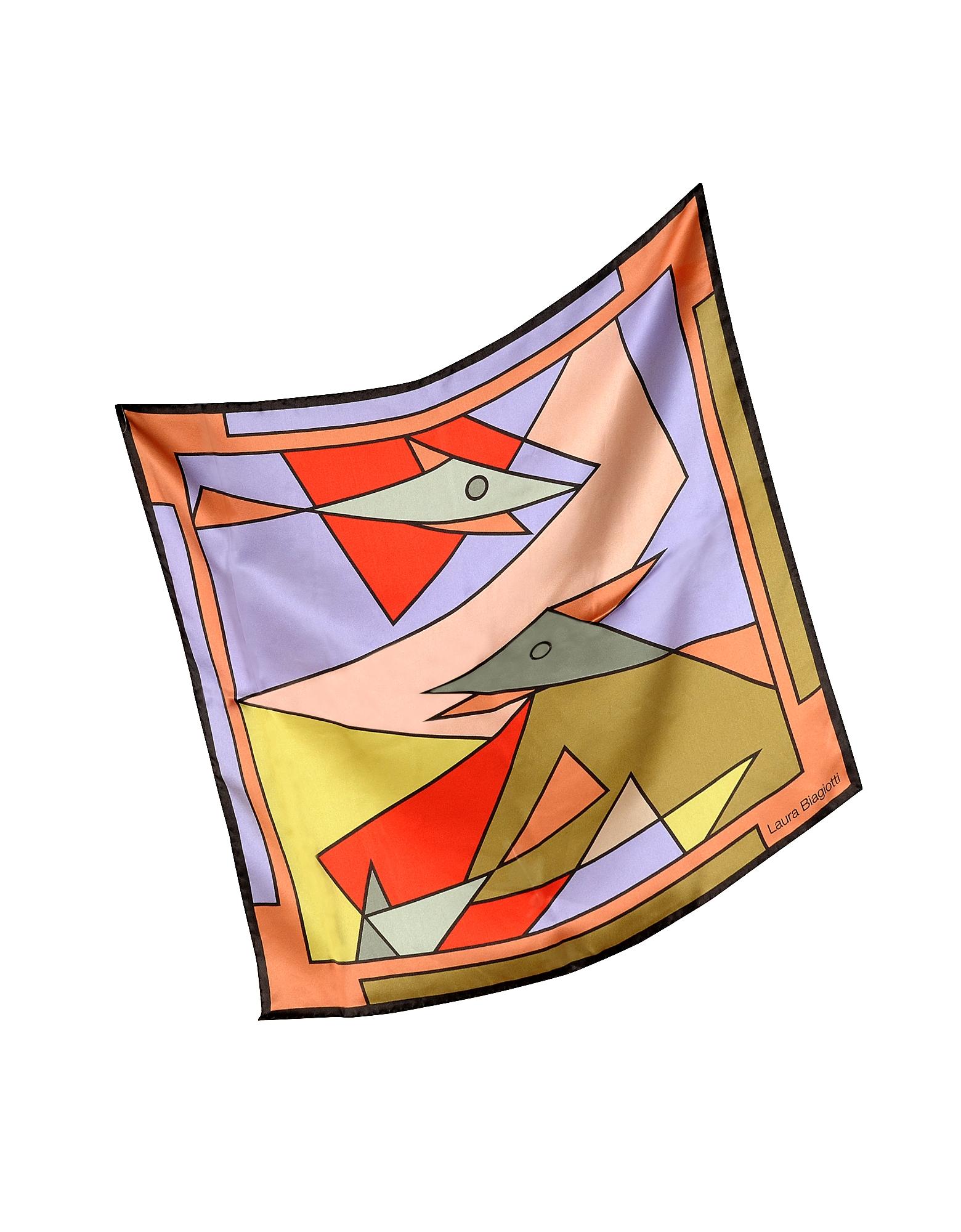 Laura Biagiotti Bandanas, Geometric Print Silk Bandana