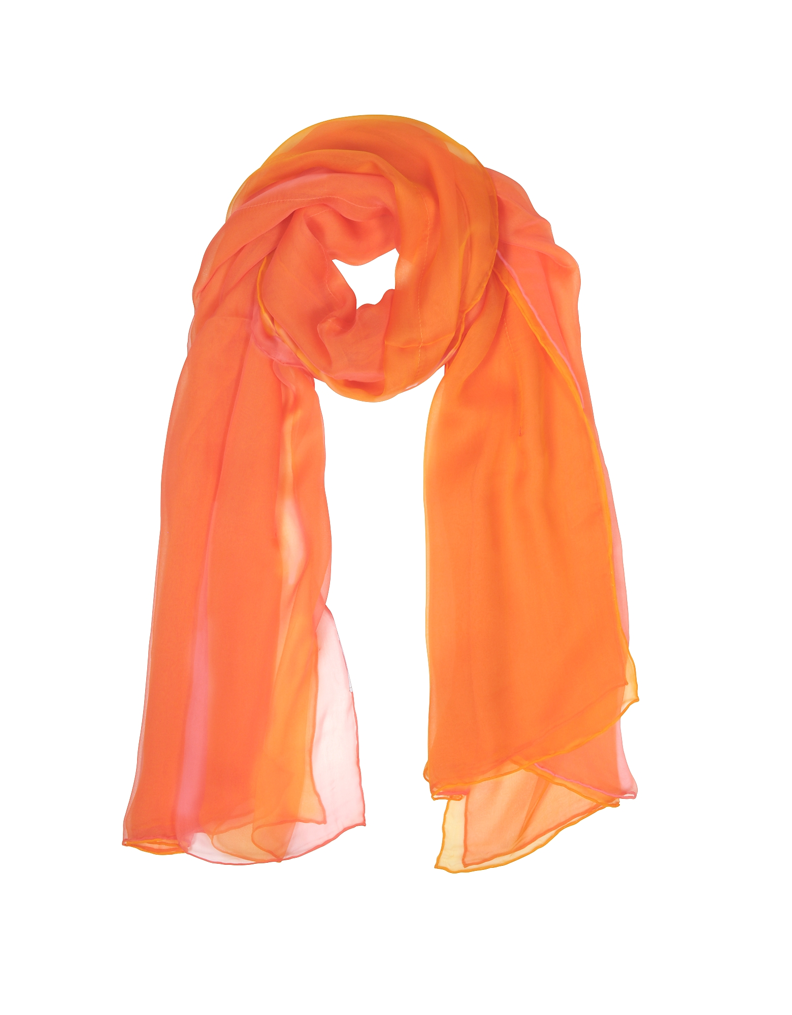 Image of Laura Biagiotti Designer Scarves, Double Chiffon Silk Stole