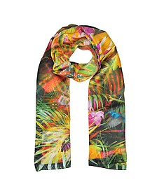 Floral and Nature Print Silk Stole - Laura Biagiotti