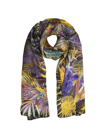Laura Biagiotti - Floral and Nature Print Silk Stole