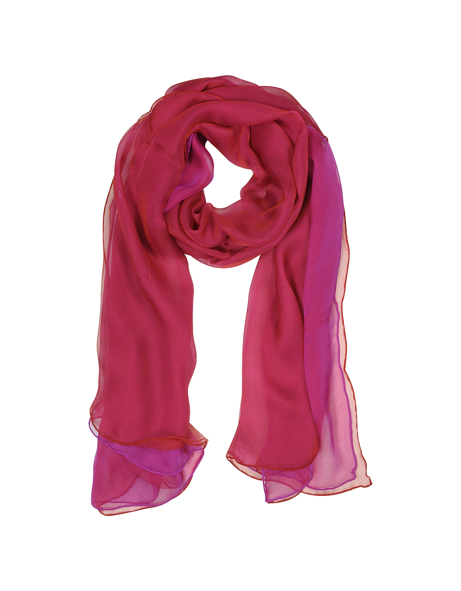 Laura Biagiotti Long Scarves, Double Chiffon Silk Stole
