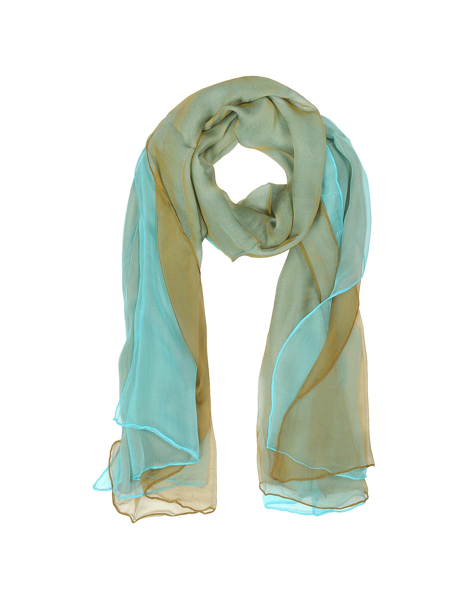 Laura Biagiotti Scarves, Double Chiffon Silk Stole