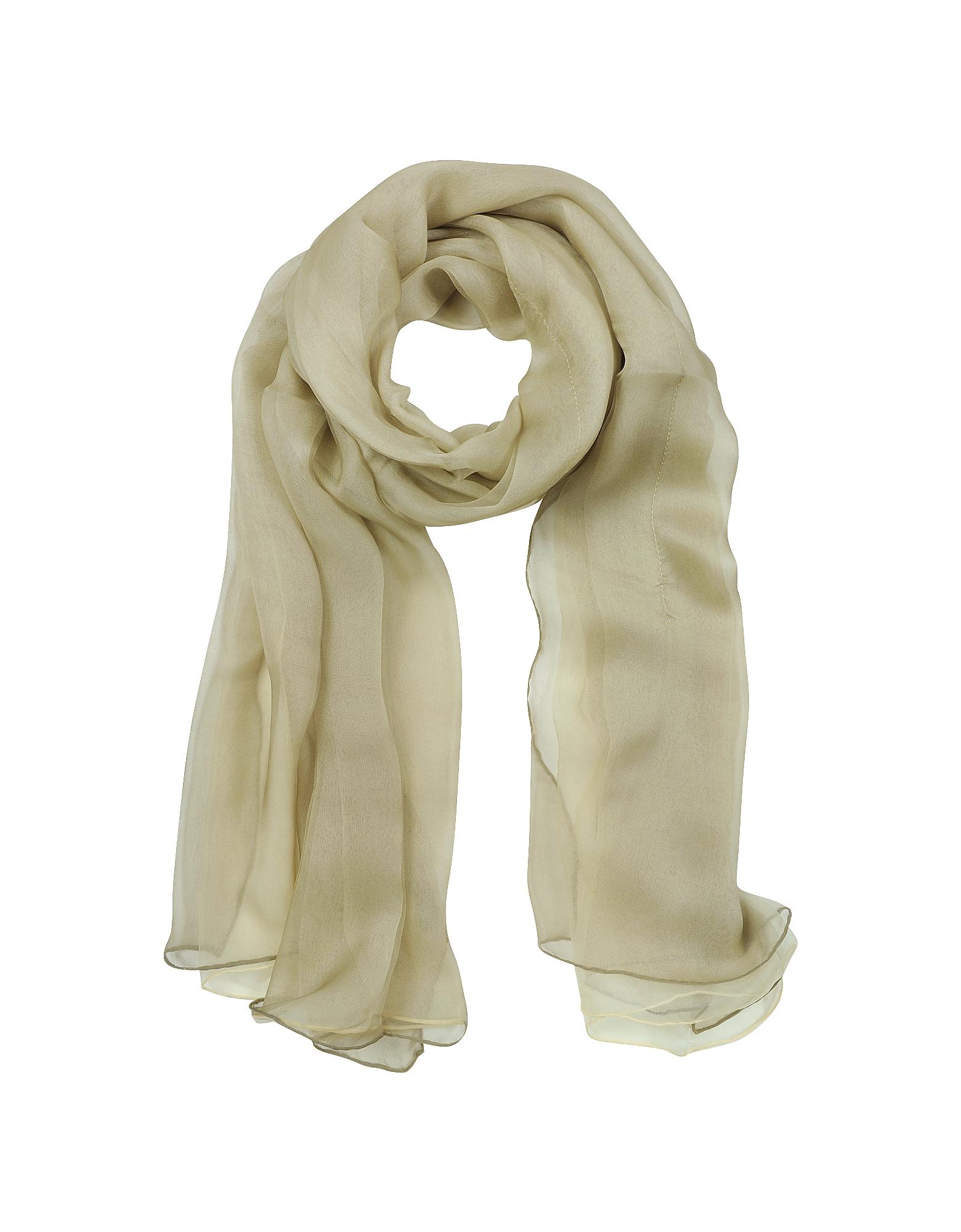 Laura Biagiotti Long Scarves, Double Chiffon Silk Stole