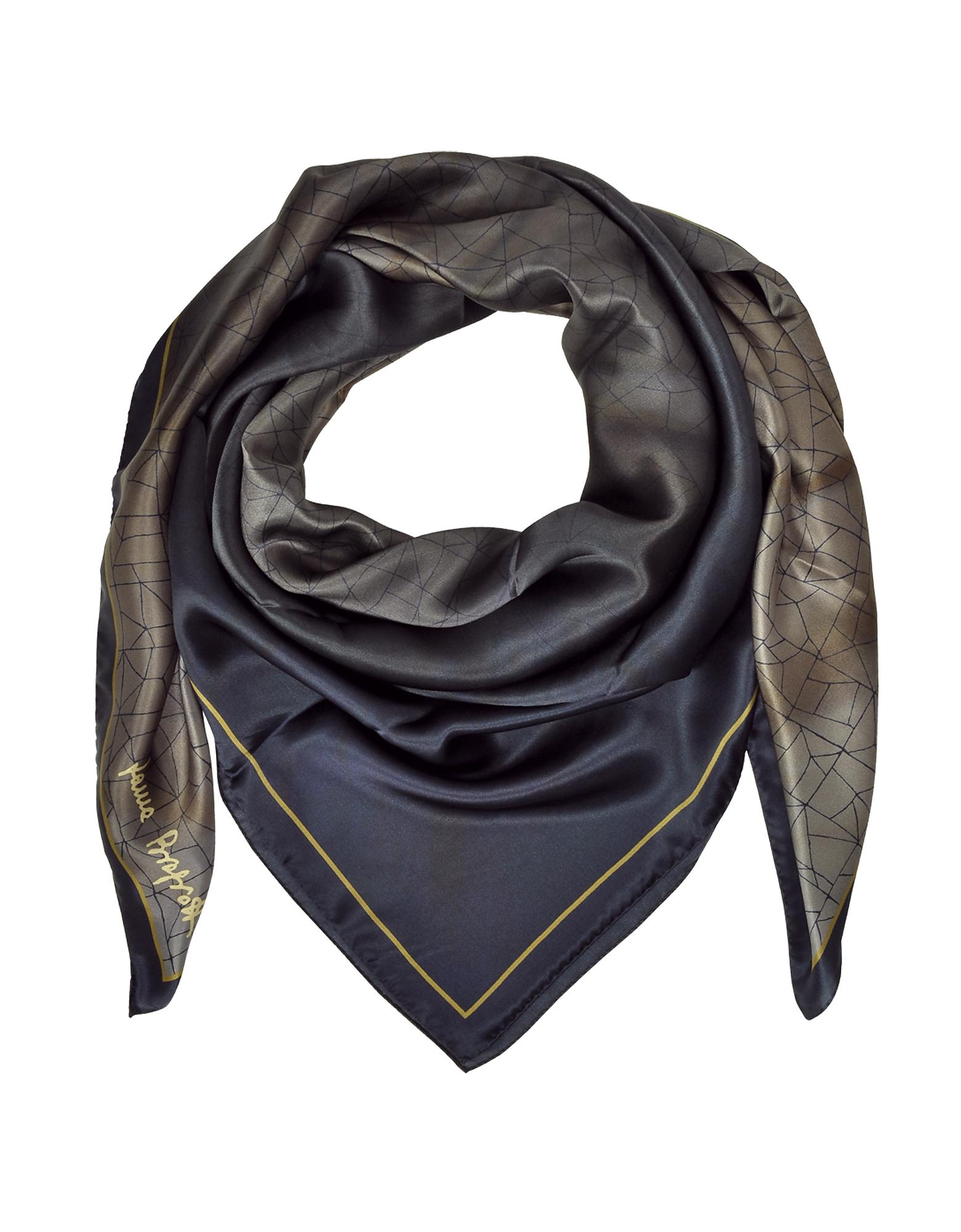 Laura Biagiotti Shawls & Wraps, Shaded Geometric Printed Silk Shawl