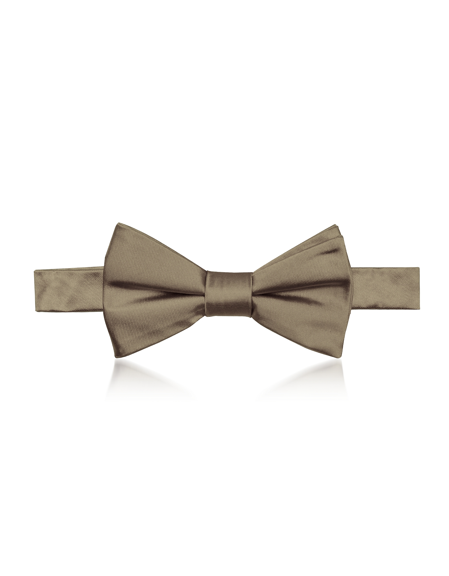 Laura Biagiotti Designer Bowties and Cummerbunds, Bronze Woven Silk Pre-tied Bow-tie