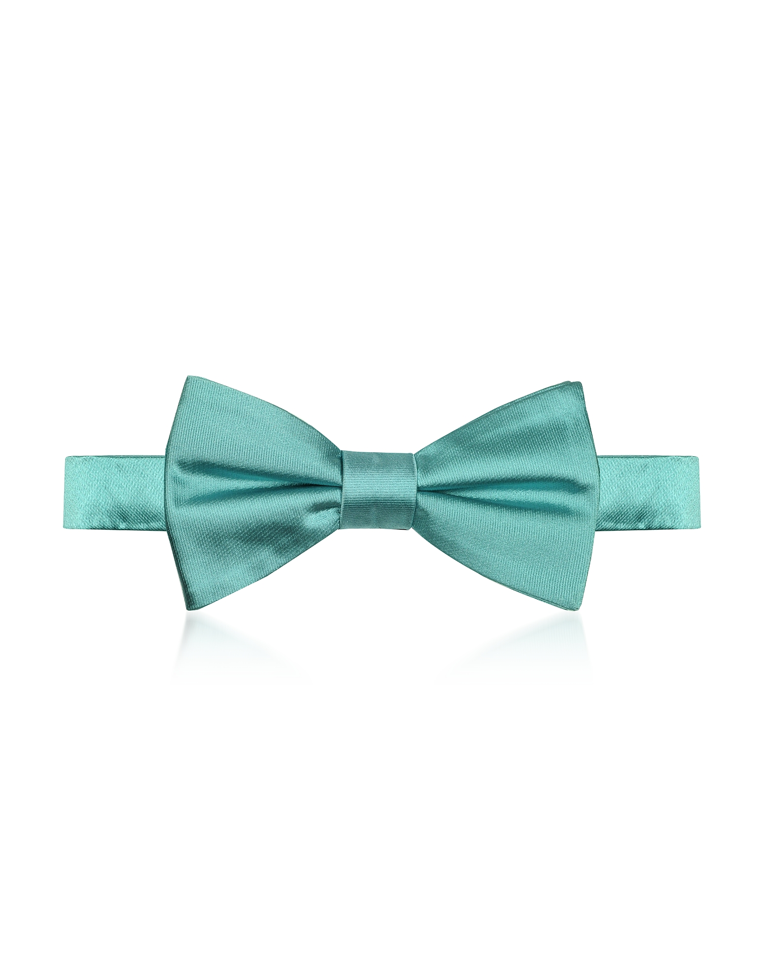 Laura Biagiotti Designer Bowties and Cummerbunds, Aqua Woven Silk Pre-tied Bow-tie