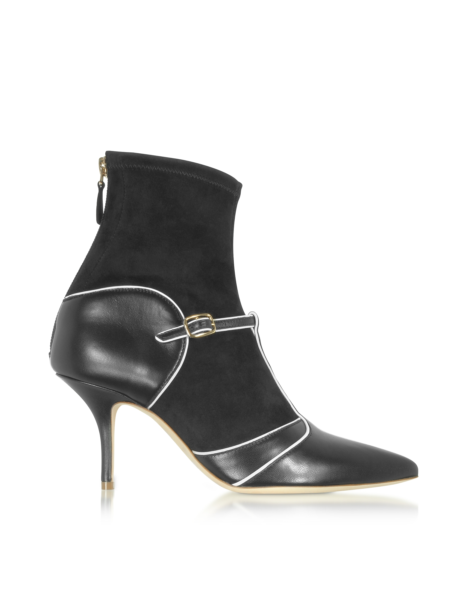 Malone Souliers Shoes, Color Block Nappa Leather and Stretch Suede Sadie Bootie