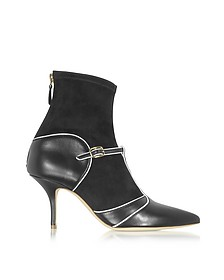 Color Block Nappa Leather and Stretch Suede Sadie Bootie - Malone Souliers