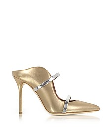 Maureen Metallic Nappa leather High Heel Mules - Malone Souliers