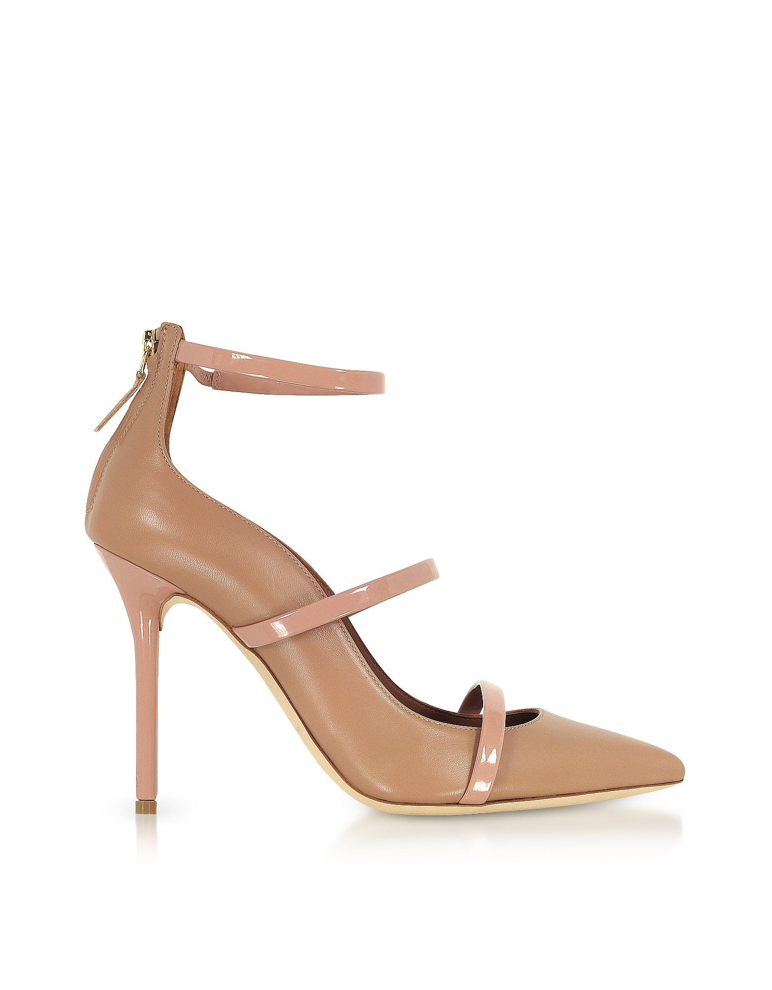Malone Souliers by Roy Luwolt Shoes, Robyn Nude and BLush Nappa Leather Pumps