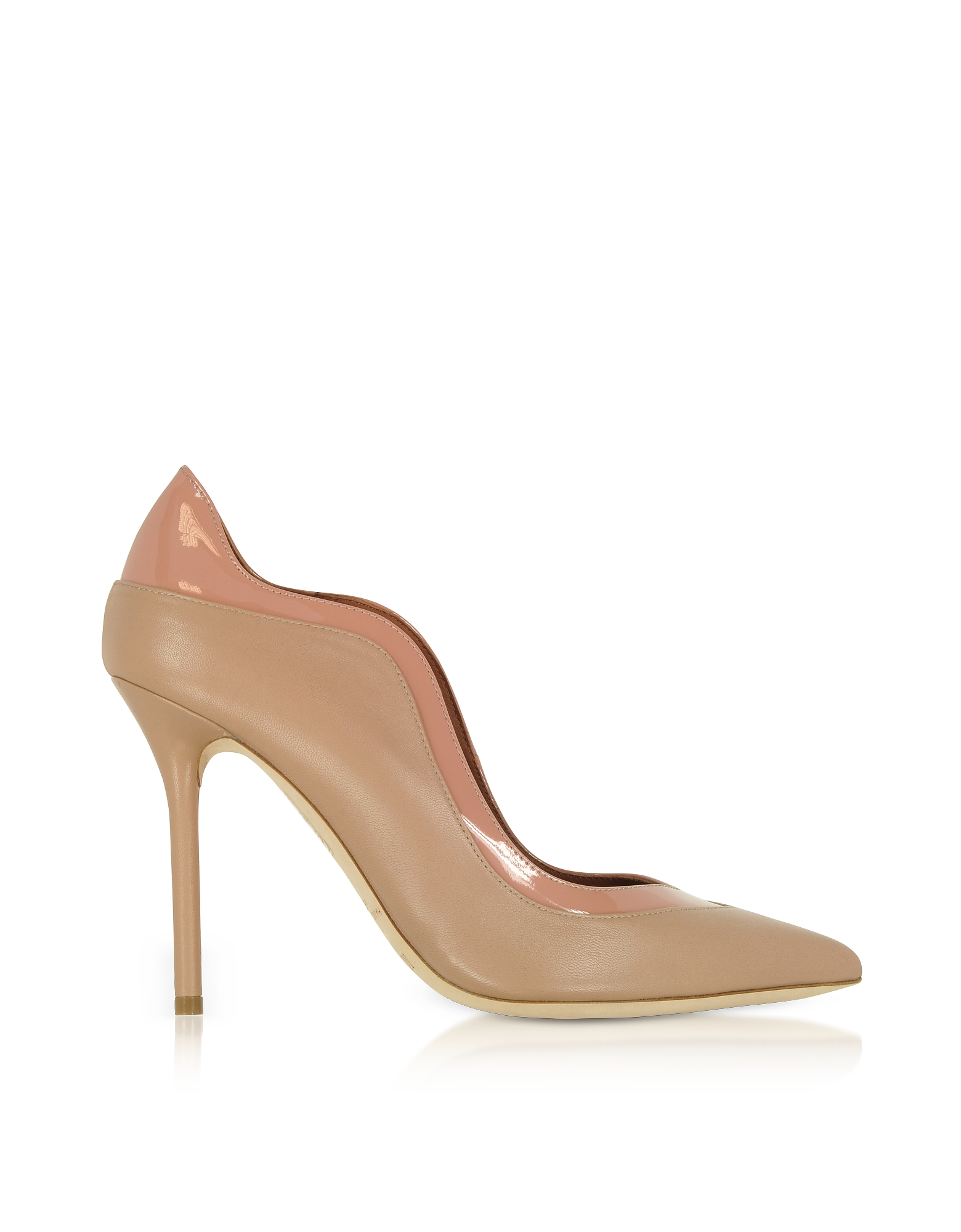 Malone Souliers by Roy Luwolt Shoes, Penelope Nude and Blush Nappa Leather Pumps