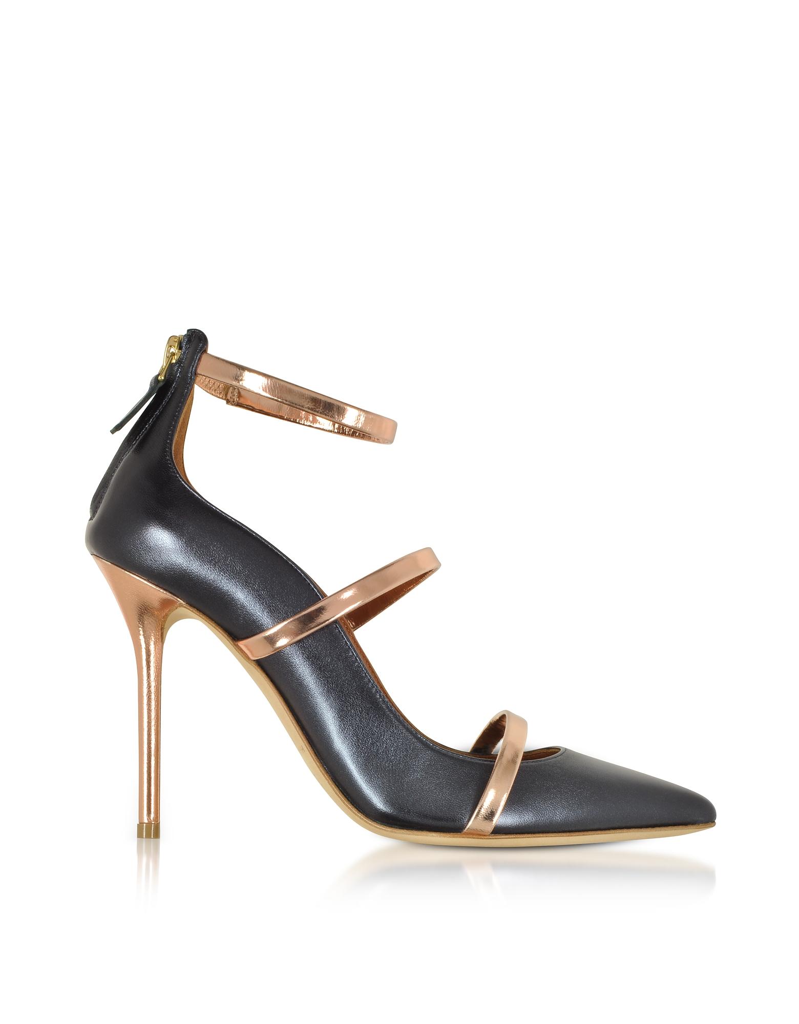 Robyn 100 Midnight Nappa Leather High Heel Pumps