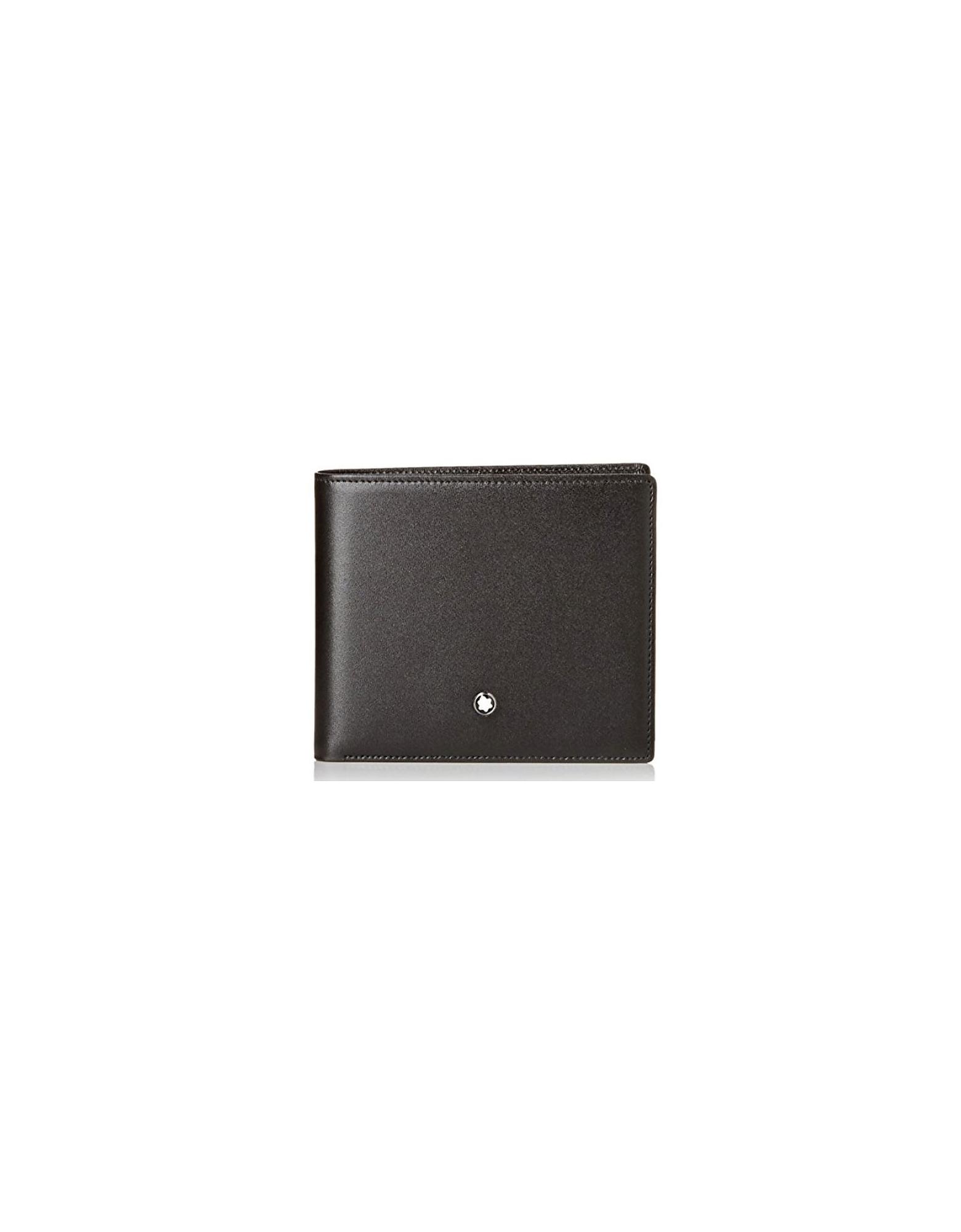 Montblanc Designer Men's Bags, Black Leather Bi-Fold Wallet