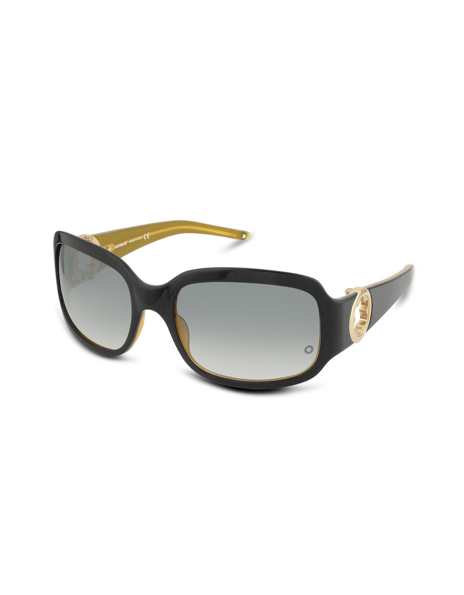 Montblanc Trendy New Signature - Ladystar Cutout Logo Plastic Sunglasses