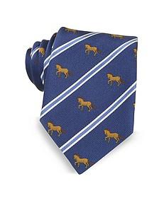 Riding Horse Woven Silk Tie