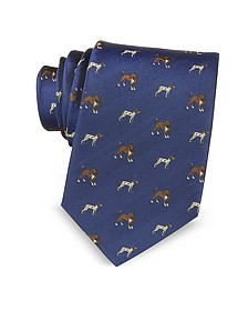 Dogs Woven Silk Men's Tie - Marina D'Este