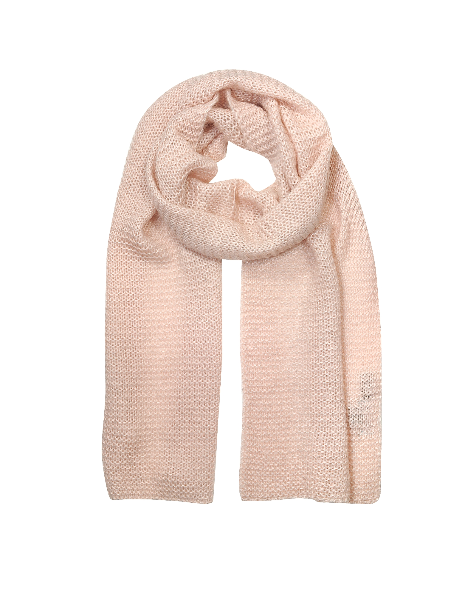 Marina D'Este Designer Scarves, Light Pink Wool Blend Women's Scarf