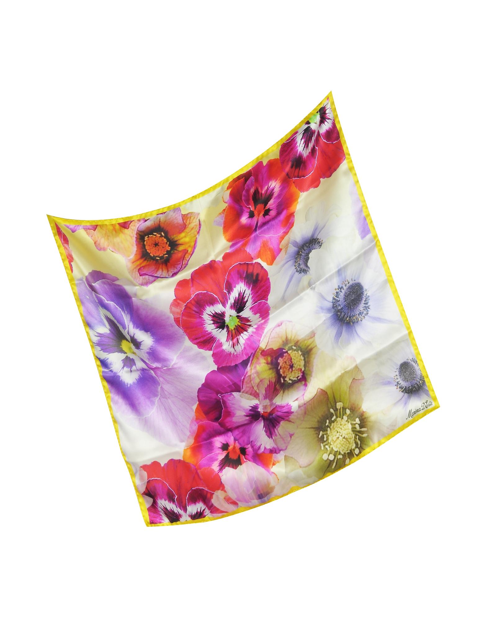 Flowers Print Silk Bandana