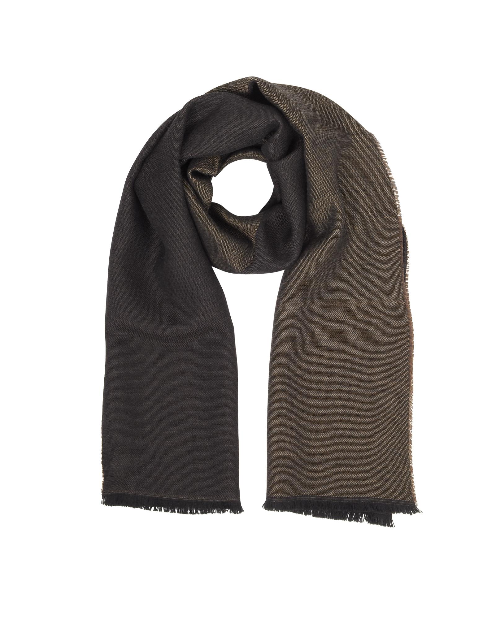 Marina D'Este Men's Scarves, Solid Wool Scarf