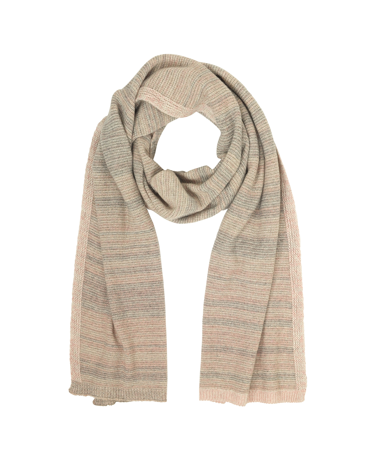 Striped Wool & Cashmere Scarf