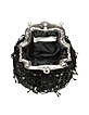 Black Beaded Evening Lace Purse W/Chain Strap - Maddalena Marconi