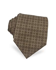 Printed Silk Tie - Moreschi