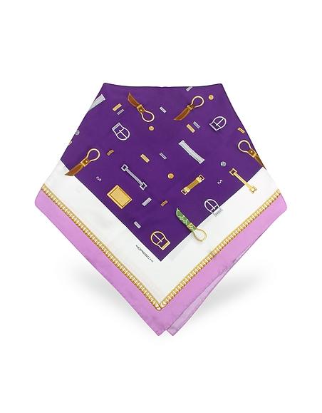 Moreschi Quadratisches Halstuch aus Twillseide mit Print