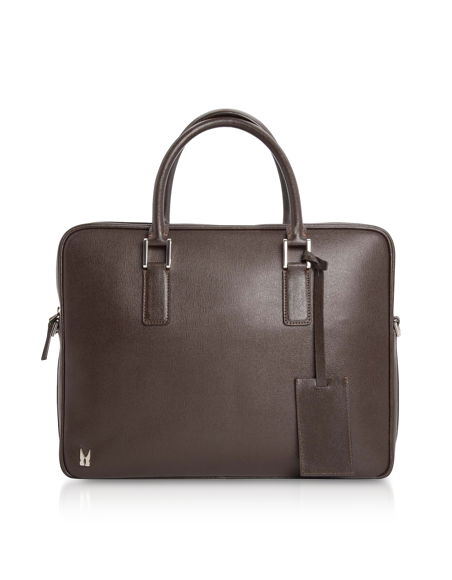 Moreschi Designer Briefcases, Printed Leather Briefcase w/ Shoulder Strap