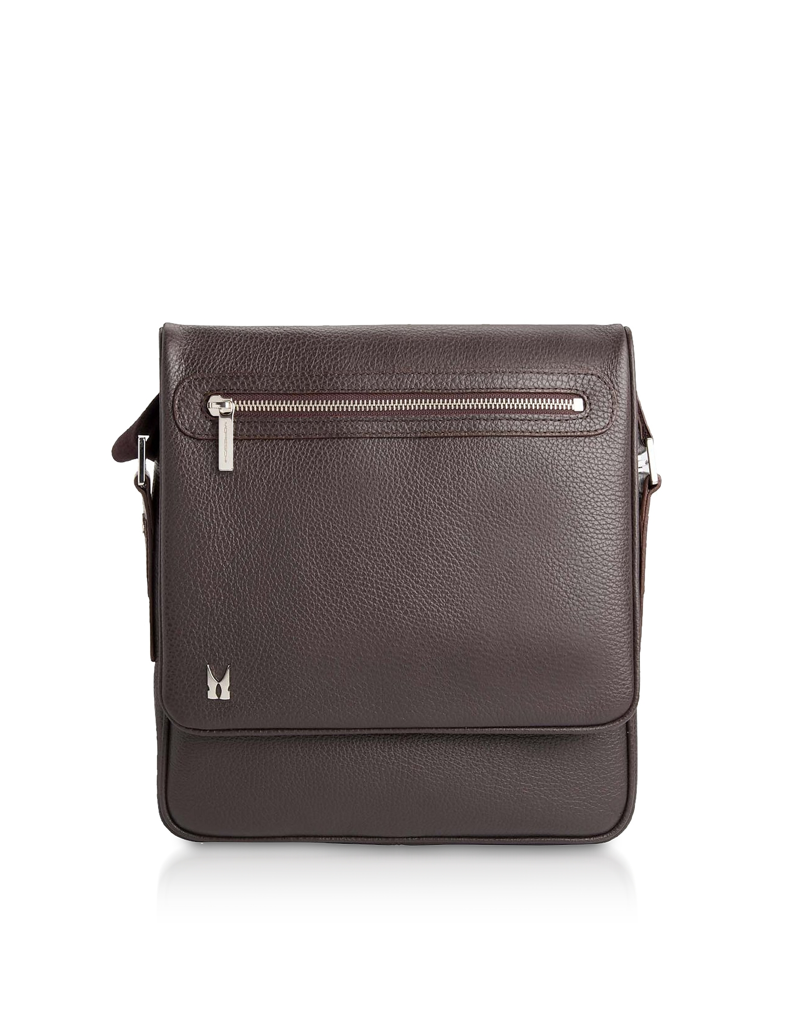 Moreschi Designer Briefcases, Printed Leather Messenger Bag