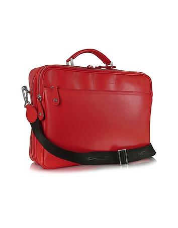 Moreschi - Calf Leather Laptop Briefcase