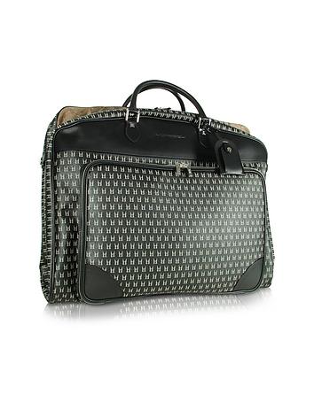 Black Logo Garment Travel Bag