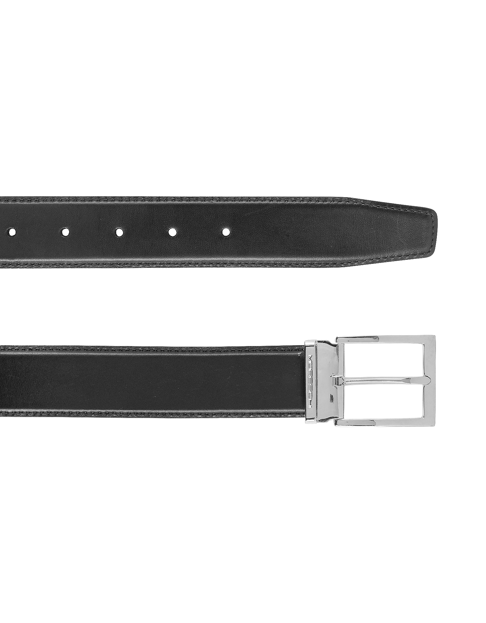 York Black Calf Leather Belt от Forzieri.com INT