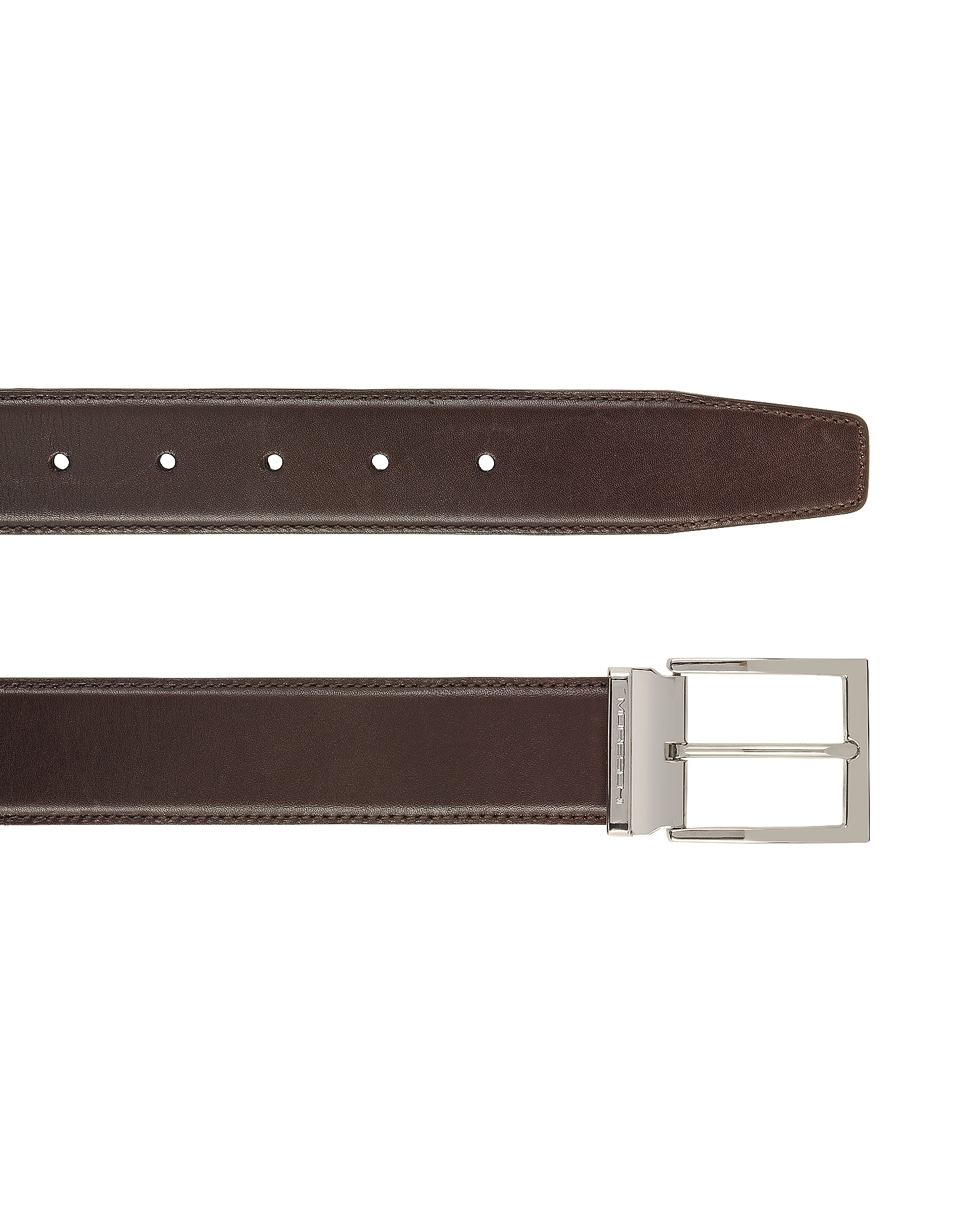 York Dark Brown Calf Leather Belt от Forzieri.com INT