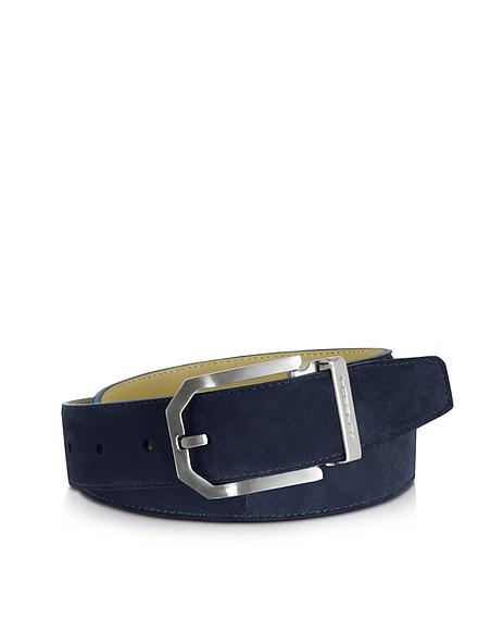 Foto Moreschi Monterey Cintura in Suede Blu Cinture Uomo