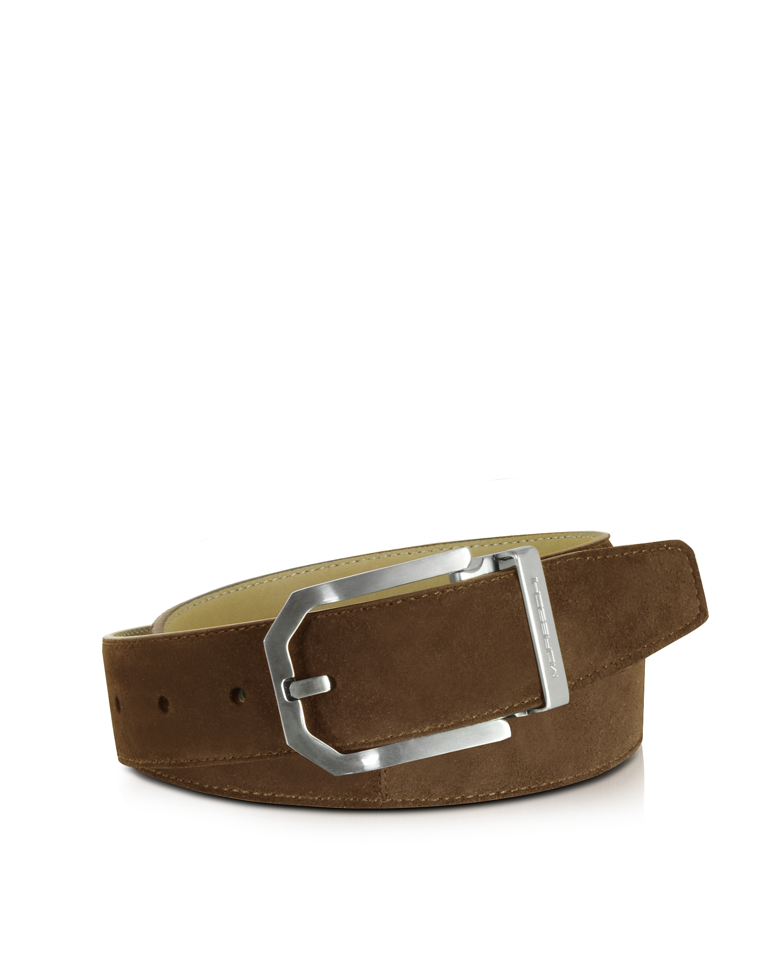 Moreschi Men's Belts, Monterey Brown Suede Belt