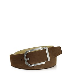 Monterey Brown Suede Belt  - Moreschi