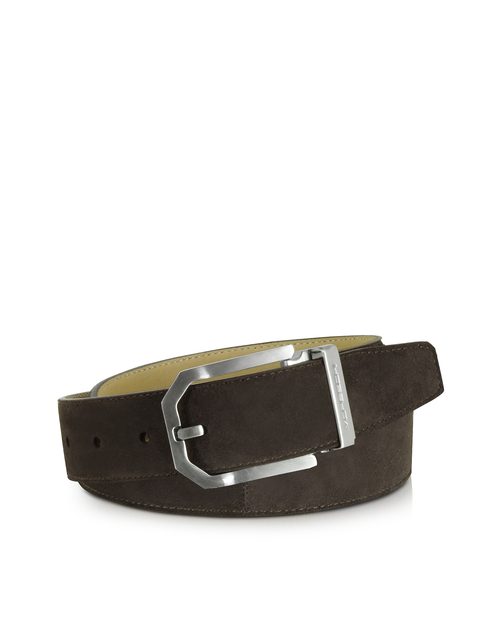 Moreschi Men's Belts, Monterey Dark Brown Suede Belt