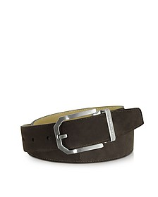 Monterey Dark Brown Suede Belt  - Moreschi