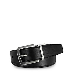 Orlando Black/Brown Reversible Leather Belt - Moreschi