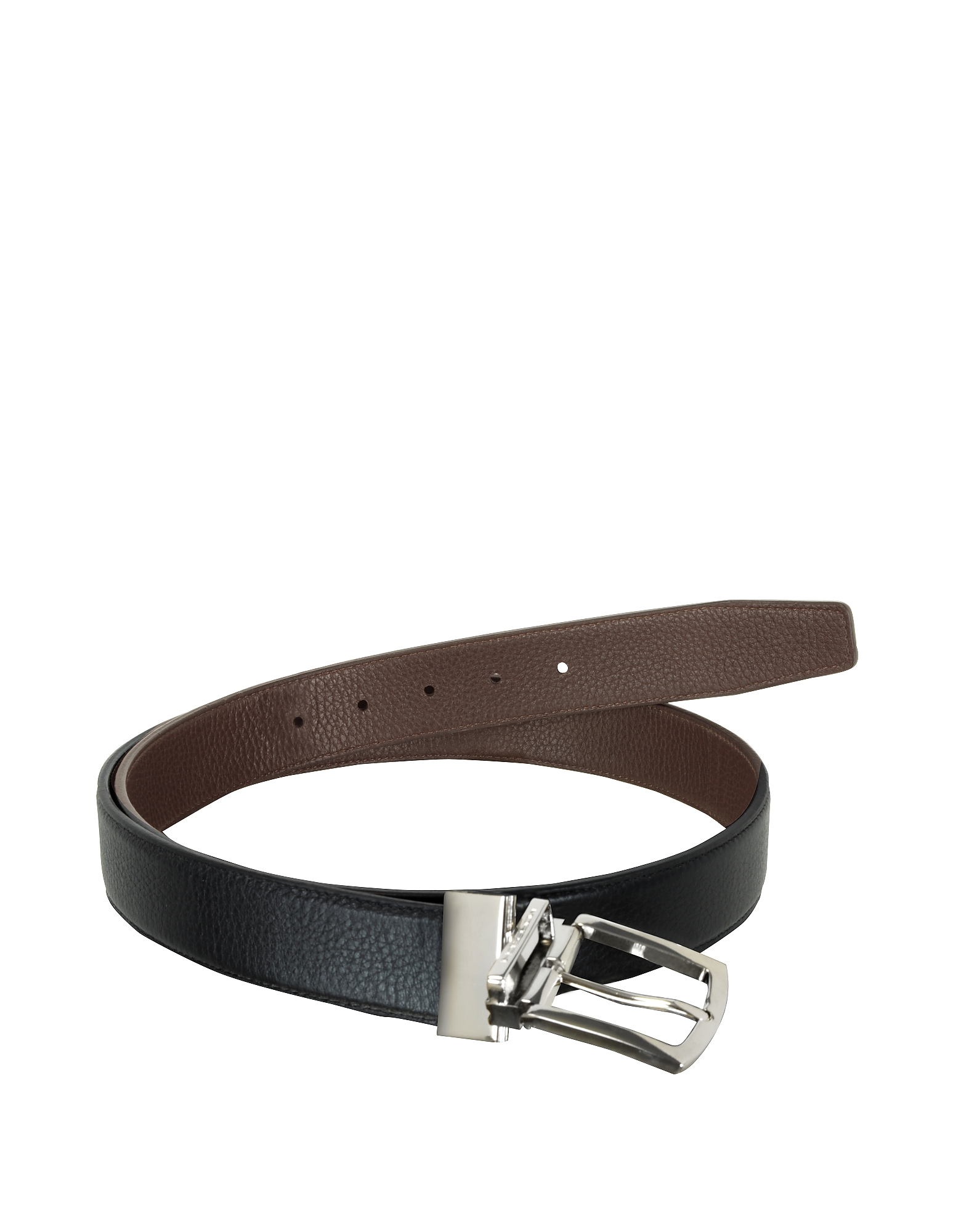 Orlando Black/Brown Reversible Leather Belt от Forzieri.com INT