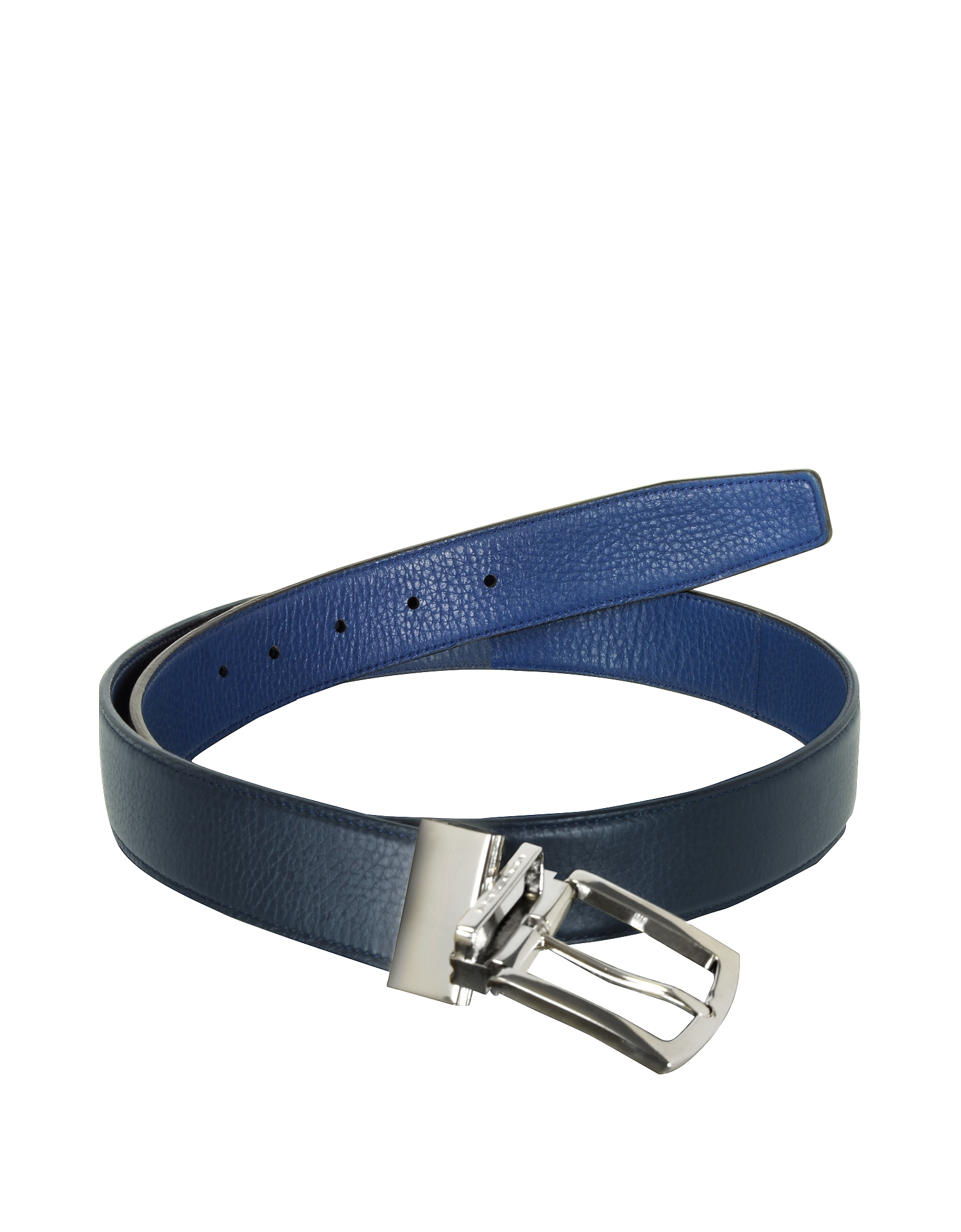 Orlando Navy Blue/Blue Reversible Leather Belt от Forzieri.com INT