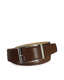 Eton Brown Leather Belt - Moreschi